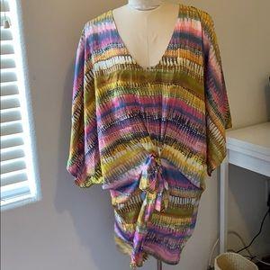Multicolor Kimono Style Dress